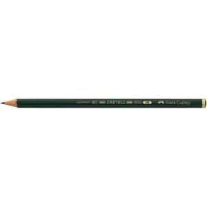 Faber-Castell® 9000 Black Lead Pencil 5H; Color: Black/Gray; Degree: 5H; (model FC119015), price per dozen (12-pack)