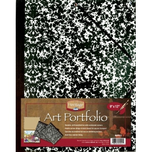 "Heritage Arts™ Art Portfolio 12"" x 18"": Black/Gray, White/Ivory, Paper, 12"" x 18"", (model HAP1218), price per each"