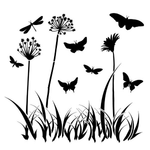 """The Crafter's Workshop 6"""" x 6"""" Design Template Butterfly Meadow; Size: 6"""" x 6""""; Type: Patterned Stencil; (model TCW197S), price per each"""
