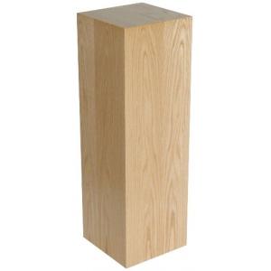 """Xylem Oak Wood Veneer Pedestal: 15"""" X 15"""" Size, 18"""" Height"""