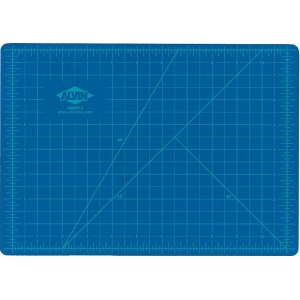 "Alvin Self-Healing Hobby Mat: Blue/Gray, 18"" x 24"""