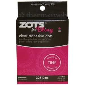 Therm O Web Zots™ Bling Clear Adhesive Boxed Dots; Color: Clear; Material: Glue; Shape: Round; (model TW3770), price per box