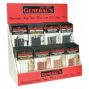 General's® Compressed Art Sticks Display; Format: Stick; (model G9458D), price per each