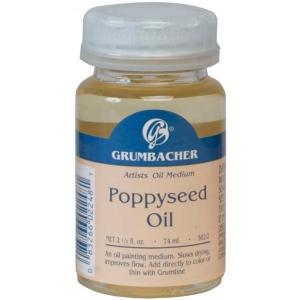 Grumbacher® Poppy Seed Oil; Format: Bottle; Size: 2.5 oz; Type: Poppy Seed Oil; (model GB5622), price per each
