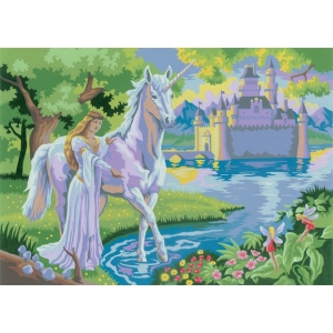 "Royal & Langnickel® Painting by Numbers™ 11 1/4 x 15 3/8 Junior Large Set Fairy Castle; Board Size: 11 1/4"" x 15 3/8""; (model PJL20), price per set"
