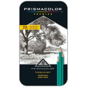 Prismacolor® Premeir Turquoise® Premier Medium Drawing Pencil Set: Black/Gray, Drawing, (model SN24192), price per set