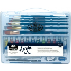 Royal & Langnickel® Essentials™ Clear View Acrylic Painting Set; Color: Multi; Type: Acrylic; (model RSET-ART3202), price per set