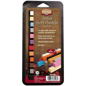 Heritage Arts™ Artist Soft Portrait 12-Color Pastel Set: Multi, Stick, Soft, (model ASP12PT), price per set