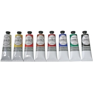 Gamblin Artists' Grade FastMatte Alkyd Oil Color 150ml Titanium White; Color: White/Ivory; Format: Tube; Size: 150 ml; Type: Alkyd Oil; (model GF2810), price per tube