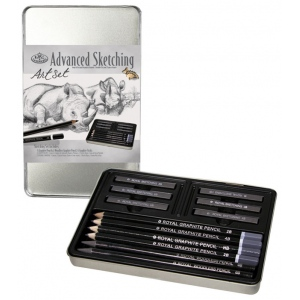 Royal & Langnickel® Graphite Sketching Small Tin Art Set; Color: Multi; Type: Drawing; (model RSET-ART2502), price per set
