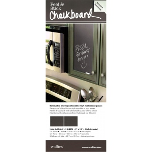 "Wallies® 9"" x 12"" Peel & Stick Chalkboard Sheets Gray 2-Pack; Size: 9"" x 12""; Type: Chalkboard; (model WALL16004), price per pack"