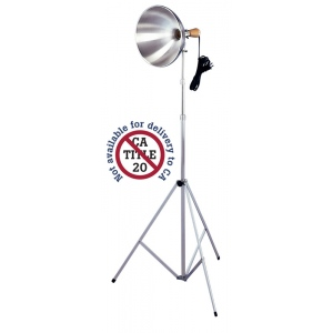 "Testrite® Studio Light; Color: Metallic; Shade Size: 10"" & Up; Type: Studio; Wattage: 26-75w; (model 124/3A), price per each"