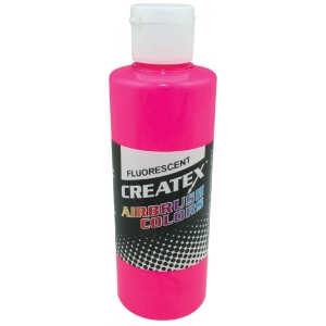 Createx™ Airbrush Paint 4oz Fluorescent Hot Pink: Red/Pink, Bottle, 4 oz, Airbrush, (model 5407-04), price per each