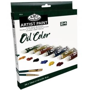 Royal & Langnickel® Oil Paint 24-Color Set; Color: Multi; Format: Tube; Size: 12 ml; Type: Oil; (model ROIL24), price per set
