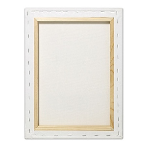 """Fredrix® Artist Series Blue Label 22"""" x 28"""" Blue Label Ultra Smooth Stretched Canvas: White/Ivory, Sheet, 22"""" x 28"""", 11/16"""" x 1 9/16"""", Stretched, (model T5610), price per each"""