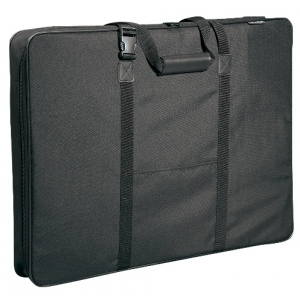 "Prestige™ Carry-All™ Soft-Sided Art Portfolio 23"" x 31""; Color: Black/Gray; Gusset Size: 3""; Material: Nylon; Size: 23"" x 31""; (model MN2331), price per each"