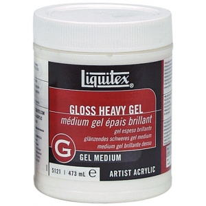 Liquitex® Gloss Heavy Gel Medium 16oz: Gloss, 16 oz, Gel, (model 5121), price per each