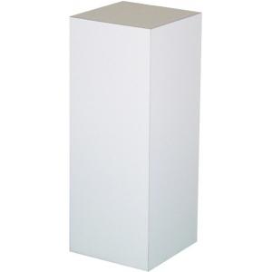 "White Laminate Pedestal: 12"" x 12"" Base, 12"" Height"