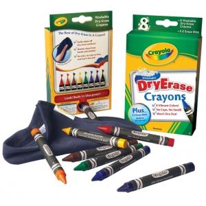 Crayola® Washable Dry Erase Crayon 8-Color Set; Type: Dry Erase; (model 98-5200), price per set