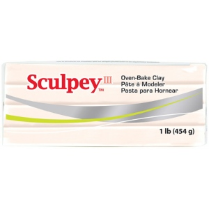 Sculpey® III Beige Clay; Color: Brown; Format: Bar; Size: 1 lb; (model S31093), price per each