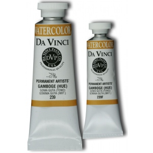 Da Vinci Artists' Watercolor Paint 37ml Gamboge Hue ; Color: Orange; Format: Tube; Size: 37 ml; Type: Watercolor; (model DAV239), price per tube