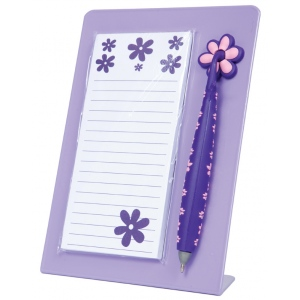 "Mishu Purple Magnetic Notestation Set; Color: Purple; Quantity: 50 Sheets; Size: 2 1/4""d x 5 1/2""w x 7 1/2""h; Type: Notepad; (model M132), price per set"