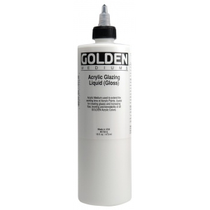 Golden® Acrylic Glazing Liquid Gloss 8 oz.: Gloss, 236 ml, 8 oz, Oil Glaze, (model 0003720-5), price per each