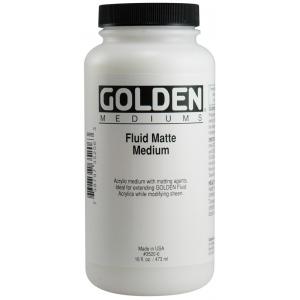 Golden® Fluid Matte Medium 16 oz.; Finish: Matte; Size: 16 oz, 473 ml; (model 0003520-6), price per each