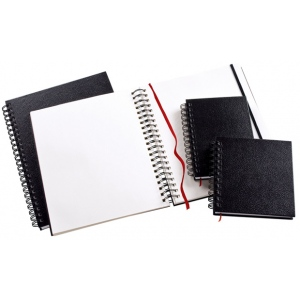 "Heritage Arts™ Wirebound Sketchbook 11 x 14; Binding: Wire Bound; Color: White/Ivory; Format: Book; Quantity: 110 Sheets; Size: 11"" x 14""; Weight: 70 lb; (model HWB1114), price per each"
