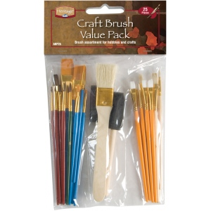 Heritage Arts™ Craft Brush Value Pack; Color: Assorted; Shape: Multi; Size: Multi; Type: Multi; (model ABP25), price per set