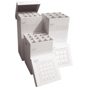 "Advanced Organizing Systems 9 Slot Manager Rolled Storage 37""h x 16""w x 16""l; Capacity: 9 Slots; Color: White/Ivory; Material: Cardboard; Size: 16""l x 16""w x 37""h; (model MGR-37-9), price per each"