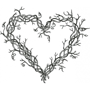 Sarasota Stamps Mounted Rubber Stamp Heart Wreath ; Material: Rubber; Mounted: Yes; (model SSH-3460), price per each