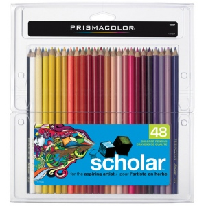 Prismacolor® Scholar® Colored Pencil 48-Color Set; Color: Multi; (model PS348), price per set