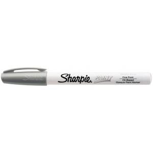 Sharpie® Oil Paint Marker Fine Silver; Color: Metallic; Ink Type: Paint; Tip Type: Fine Nib; (model SN35545), price per each
