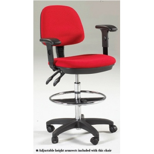 Marting Feng Shui Drafting Height Chair: Red