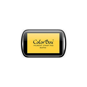 ColorBox® Full Size Ink Pad Canary; Color: Yellow; Format: Pad; Ink Type: Pigment; Shape: Full Size Rectangle; (model CS15011), price per each