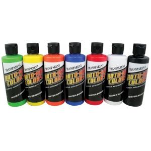Auto-Air Colors™ Airbrush Paint Transparent Set; Color: Multi; Format: Bottle; Size: 4 oz; Type: Airbrush; (model 4949-01), price per set