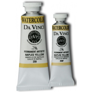 Da Vinci Artists' Watercolor Paint 37ml Naples Yellow; Color: Yellow; Format: Tube; Size: 37 ml; Type: Watercolor; (model DAV259), price per tube