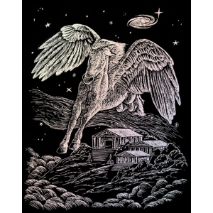 "Royal & Langnickel® Engraving Art Set Holographic Foil Pegasus; Board Size: 8"" x 10""; Color: Metallic; (model HOLO12), price per set"