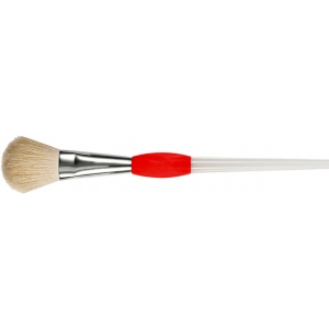 Princeton™ Good White Synthetic Hair Watercolor and Acrylic Brush Mop 100; Grade: Good; Length: Short Handle; Material: Synthetic; Shape: Mop; Type: Acrylic, Watercolor; (model 6550M-100), price per each