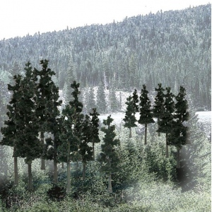 """Woodland Scenics® 2 1/4""""-4"""" Ready Made Tree Value Pack Conifer; Quantity: 33-Pack; Size: 2 1/2"""" - 4""""; Type: Tree; (model WSTR1580), price per each"""