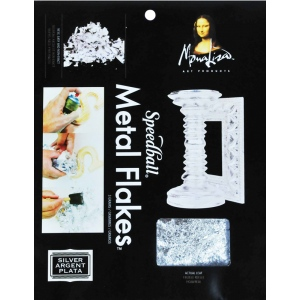 Mona Lisa™ Metal Flakes™ Silver; Color: Metallic; Size: 3 g; (model ML10010), price per each