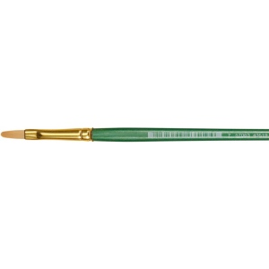 Princeton™ Good Synthetic Sable Watercolor and Acrylic Brush Filbert 6; Grade: Good; Length: Short Handle; Material: Synthetic Sable; Shape: Filbert; Type: Acrylic, Watercolor; (model 4350FB-6), price per each