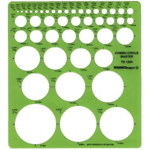"Alvin® Circle Master Template: 1/16"" - 2 1/4"", (model TD1204), price per each"