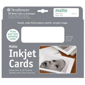 """Strathmore Matte Inkjet Card: 5"""" x 7"""""""