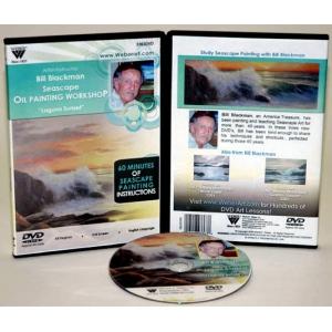 Bill Blackman DVD: Laguna Sunset Seascape, Oil Painting, 1 Hour