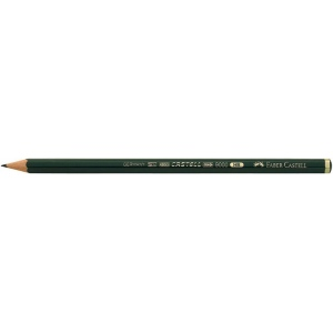 Faber-Castell® 9000 Black Lead Pencil 6H: Black/Gray, 6H, (model FC119016), price per dozen (12-pack)