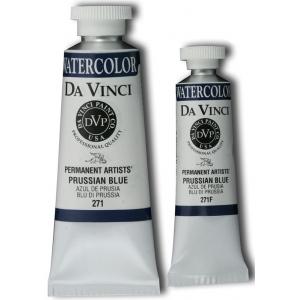 Da Vinci Artists' Watercolor Paint 37ml Prussian Blue; Color: Blue; Format: Tube; Size: 37 ml; Type: Watercolor; (model DAV271), price per tube