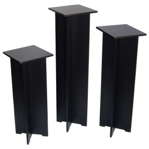"Xylem Quick Set Pedestal, Black: Single 11-1/2"" x 11-1/2"" Body Size, 35"" Height"