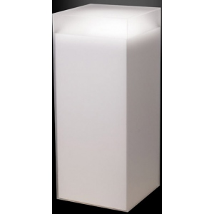 """Xylem Frosted Acrylic Pedestal: 9"""" x 9"""" Size, 5"""" Height"""